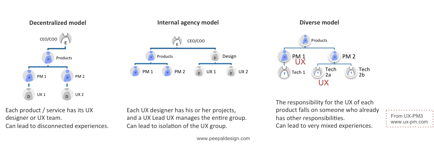 UX in various Org Structure